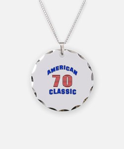 American Classic 70 Birthday Necklace Circle Charm