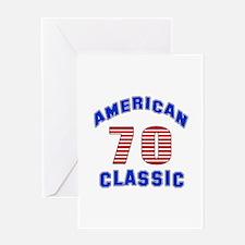 American Classic 70 Birthday Greeting Card