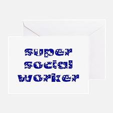 super social worker (Navy) Greeting Card