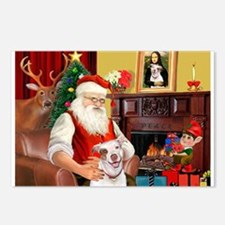 Santa's Pit Bull Postcards (Package of 8)