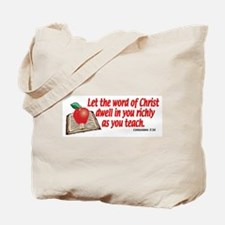 Colossians 3:16 Tote Bag