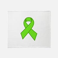 Lymphoma Ribbon Throw Blanket