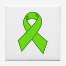 Lymphoma Ribbon Tile Coaster