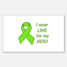 Wear Lime For My Hero Decal