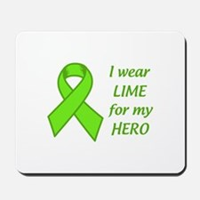 Wear Lime For My Hero Mousepad