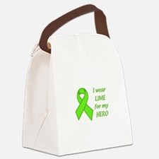 Wear Lime For My Hero Canvas Lunch Bag