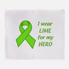 Wear Lime For My Hero Throw Blanket