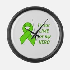 Wear Lime For My Hero Large Wall Clock