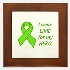 Wear Lime For My Hero Framed Tile