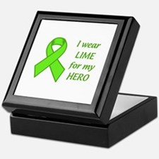 Wear Lime For My Hero Keepsake Box