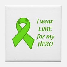 Wear Lime For My Hero Tile Coaster