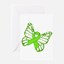 Lymphoma Butterfly Greeting Cards