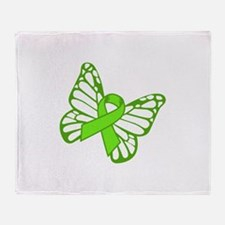 Lymphoma Butterfly Throw Blanket