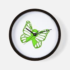 Lymphoma Butterfly Wall Clock
