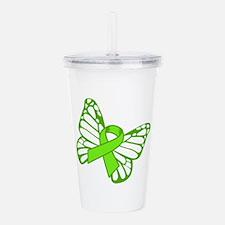 Lymphoma Butterfly Acrylic Double-wall Tumbler