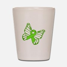 Lymphoma Butterfly Shot Glass
