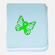Lymphoma Butterfly baby blanket