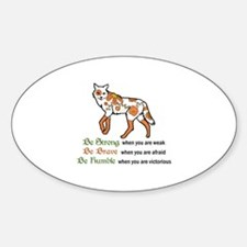 Be Strong Wolf Decal