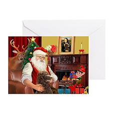 Santa's Std Poodle(c) Greeting Cards (Pk of 20)