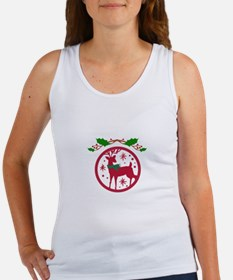 Reindeer And Holly Tank Top