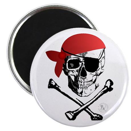 """Pirate Skull & Crossbones 2.25"""" Magnet (10 pack)"""