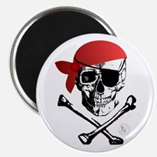 "Pirate Skull & Crossbones 2.25"" Magnet (10 pack)"