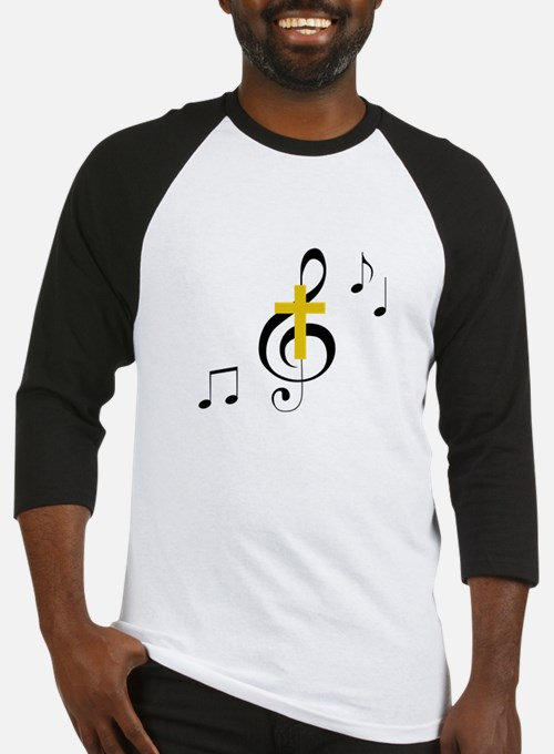 Treble Clef And Cross Baseball Jersey