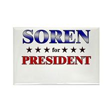 SOREN for president Rectangle Magnet