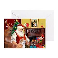 Santa's Shiba Inu Greeting Cards (Pk of 10)