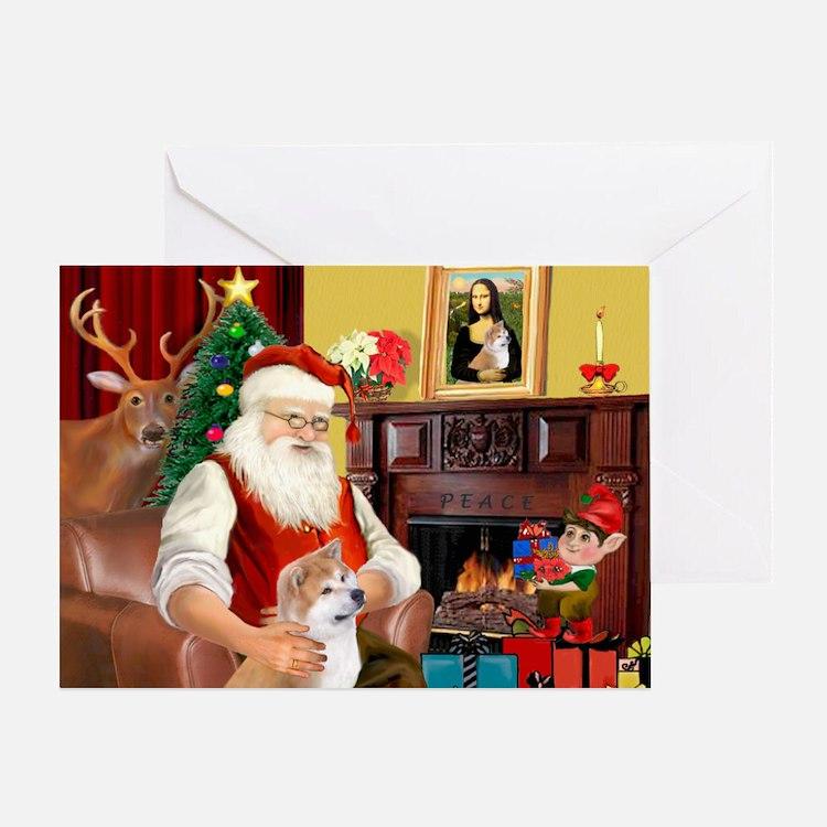 Santa's Shiba Inu Greeting Card
