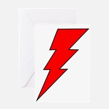 The Red Lightning Bolt Shop Greeting Card