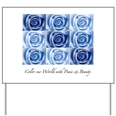 blue roses Yard Sign
