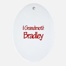 Proud Grandmother of Bradley Oval Ornament