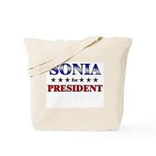 SONIA for president Tote Bag