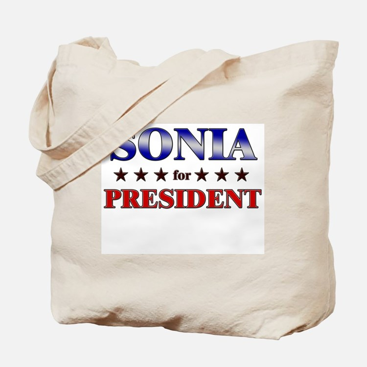 SONIA for president Tote Bag