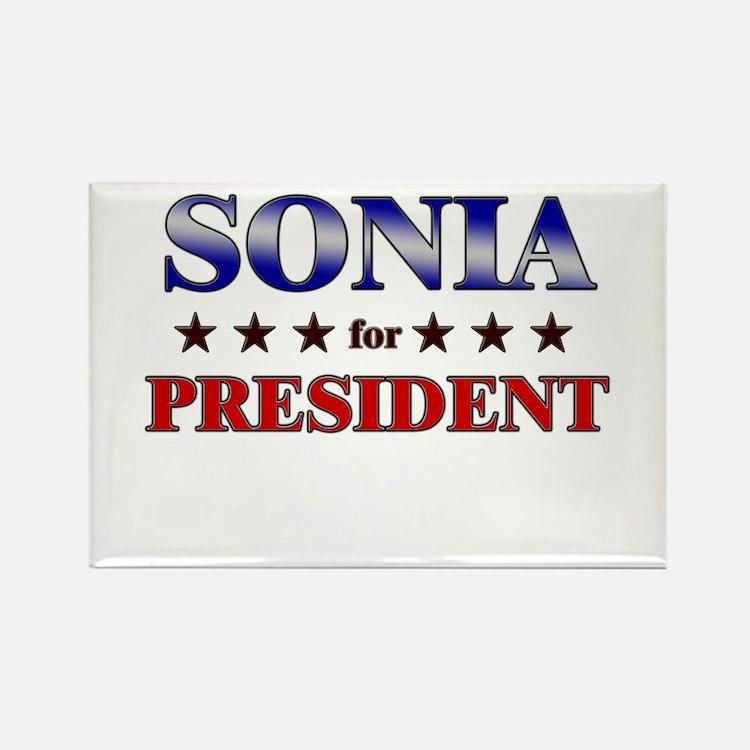 SONIA for president Rectangle Magnet