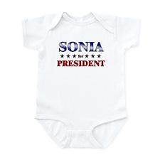 SONIA for president Infant Bodysuit