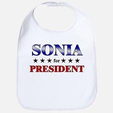 SONIA for president Bib