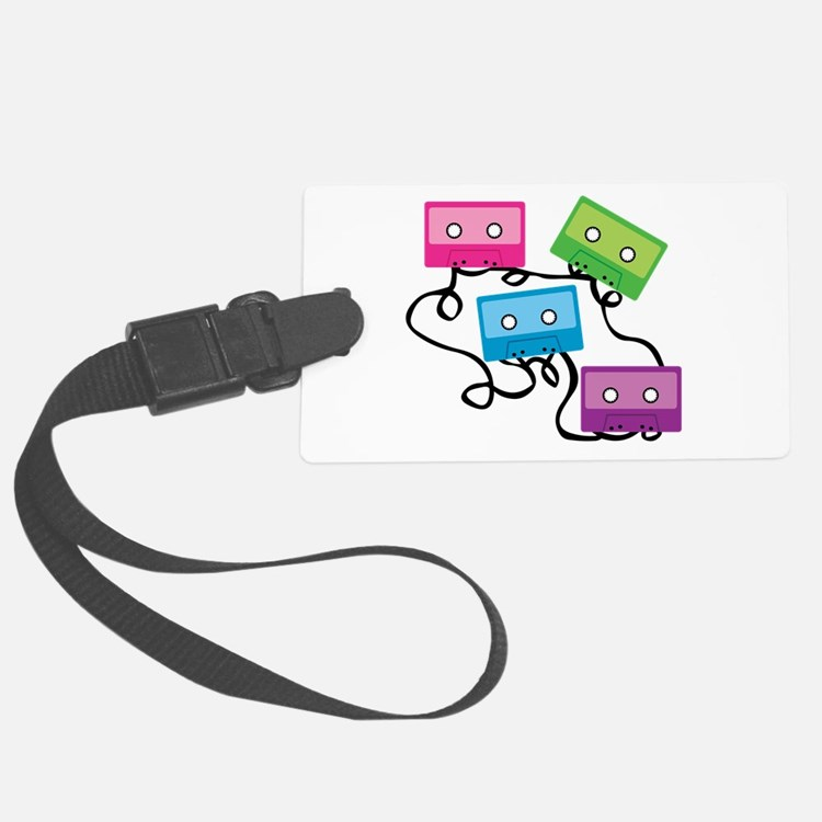 Retro Broken Cassette Tapes Luggage Tag