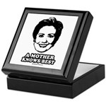 Hillary Clinton: A mother knows best Keepsake Box