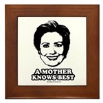 Hillary Clinton: A mother knows best Framed Tile
