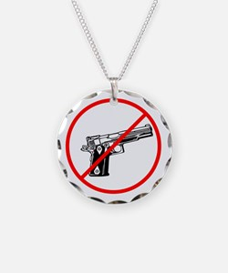 No Guns, No violence Necklace