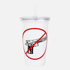 No Guns, No violence Acrylic Double-wall Tumbler