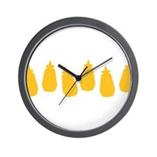Bottles of Mustard Wall Clock