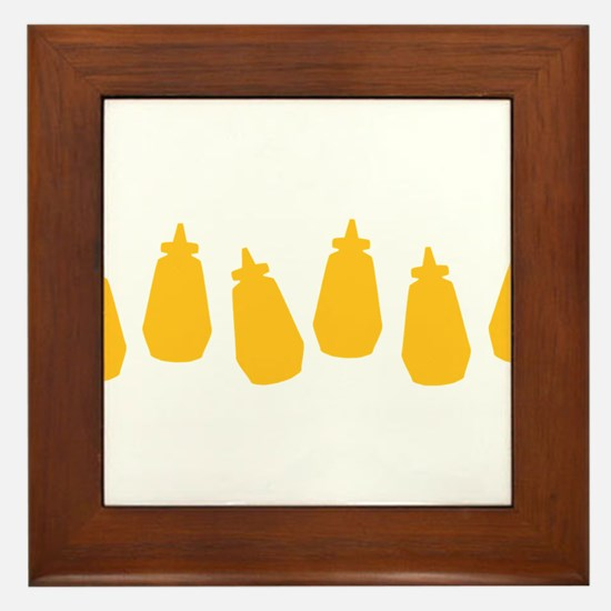Bottles of Mustard Framed Tile