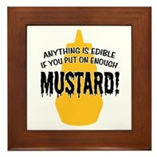 Put on Enough Mustard Framed Tile