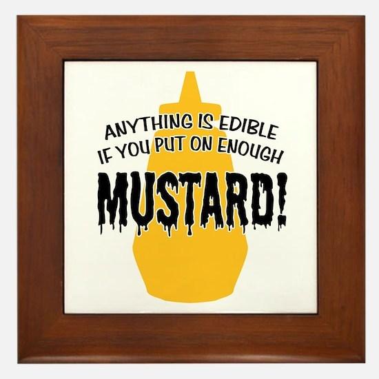 Put on Enough Mustard Framed Tile