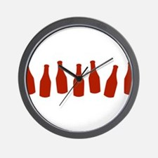 Bottles of Ketchup Wall Clock