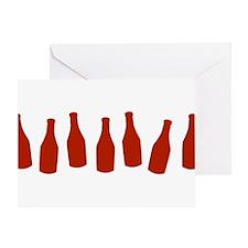 Bottles of Ketchup Greeting Card