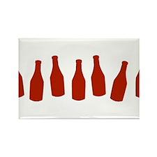 Bottles of Ketchup Rectangle Magnet